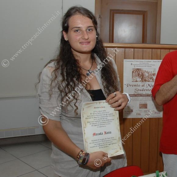 La studentessa premiata Ilaria Mazzola - foto Libertino
