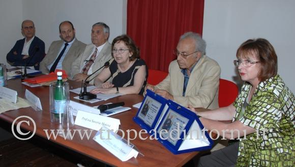 Il tavolo dei relatori della XXIII Edizione del Premio Don Francesco Mottola - foto Libertino