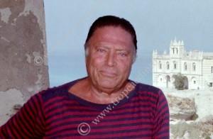 Una foto del 1984 di Raf Vallone a Tropea - foto Libertino