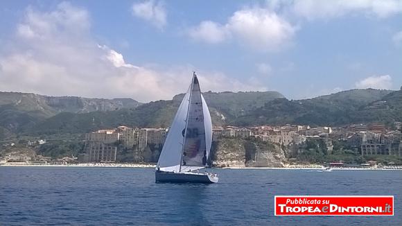 Una veduta di Tropea vista dal mare