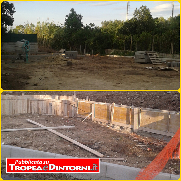 I lavori di riqualificazione nell'area sita in Parghelia in località Pigna