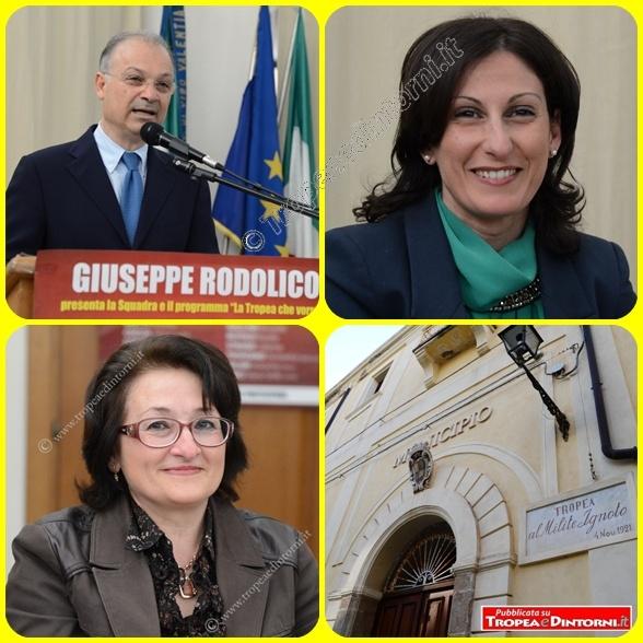 L'ex sindaco Giuseppe Rodolico e gli ex assessori Romana Lorenzo e Rosalia Rotolo - foto Libertino