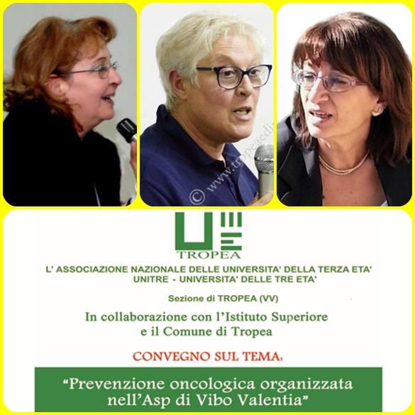 Prof. Vittoria Saccà, Dott.ssa Domenica Cortese, Medico Ospedaliero, Dott.ssa Teresa Landro, Responsabile Screening Oncologici - foto libertino