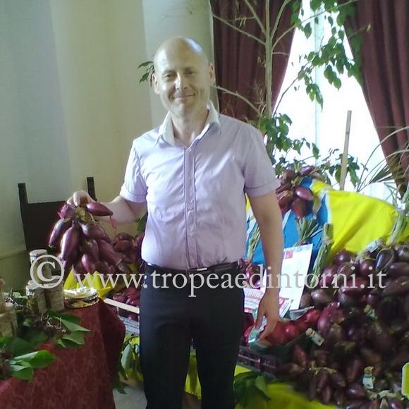 Simone Saturnino – direttore consorzio di tutela della cipolla rossa di Tropea Calabria - foto Grillo