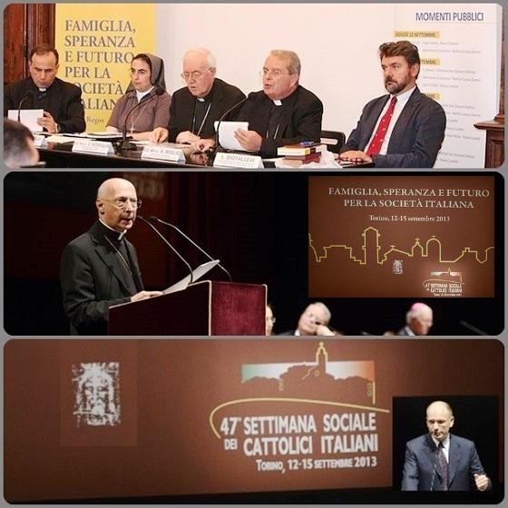 La 47° Settimana sociale di Torino tenuta a Torino nei giorni scorsi (12-15 settembre) ha considerato la necessità della centralità della famiglia nella nostra società e sui doveri della politica verso di essa. Tra i partecipanti il cardinale Bagnasco e il Presidente del Consiglio, Enrico Letta.
