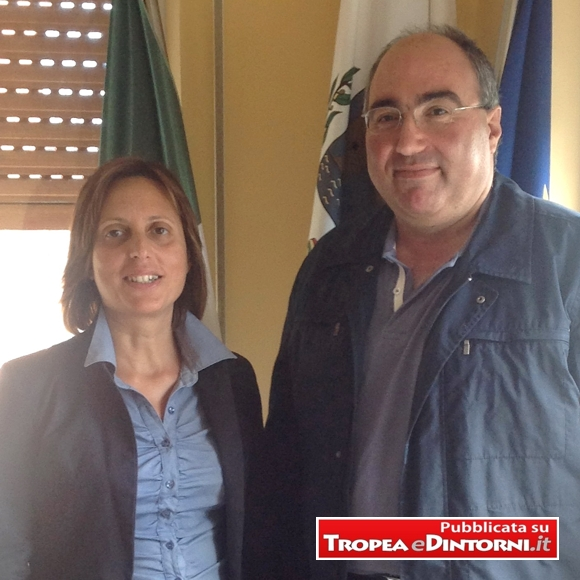 Il Sindaco di Parghelia     Avv. Maria Brosio con Il neo Consigliere Ing. Molina Bruno