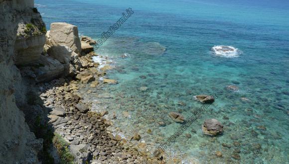 """Il mare cristallino della """"Spiaggia dell'Occhiale"""", oggi 04 giugnio 2013 - foto Libertino"""