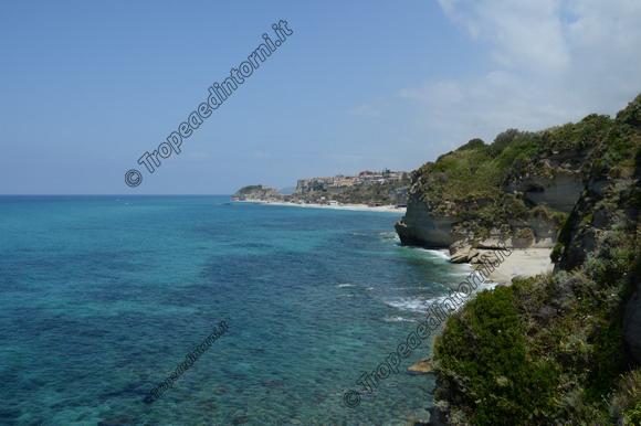 """Tropea visto dalla """"Spiaggia dell'Occhiale"""" - foto Libertino"""