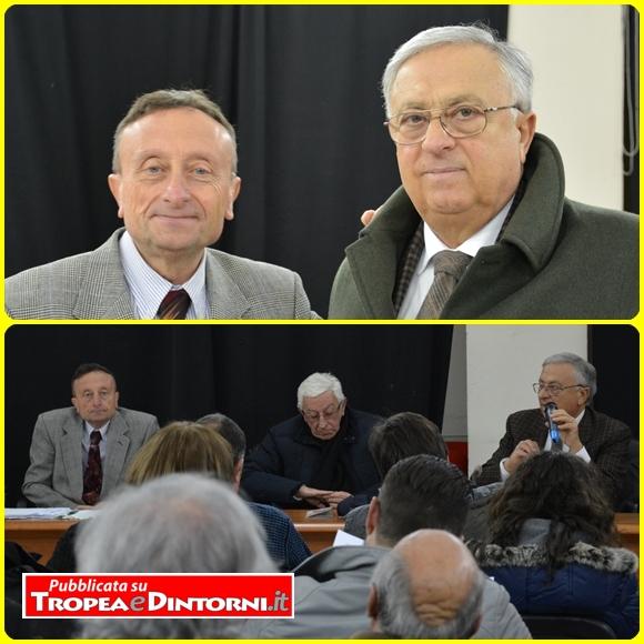 "Ottavio Scrugli, Ignazio Toraldo, Giuseppe Sarlo. Biblioteca comunale ""Albino Lorenzo"". foto Castellani"