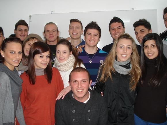 alcuni studenti che hanno partecipato all'iniziativa.