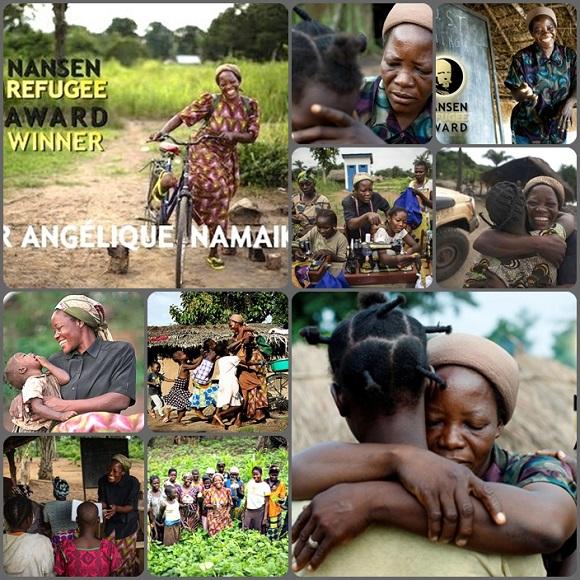 Suor Angélique Namaika, congolese di 46 anni è la vincitrice del premio Nansen per i rifugiati 2013.  Lavora da 10 anni a Dungu, una remota cittadina del nord-est della Repubblica Democratica del Congo, per aiutare donne e ragazze sopravvissuti alle violenze della LRA, esercito rivoluzionario. - Riceverà il premio il 30 settembre a Ginevra e sarà ricevuta da Papa Francesco a Roma il prossimo 2 ottobre.