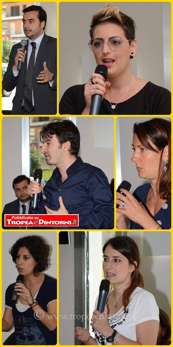 Gli Onorevoli Michele Dell'Orco, Carlo Sibilia, Mirella Liuzzi, Dalila Nesci, Carla Ruocco, Laura Ferrara - foto Libertino