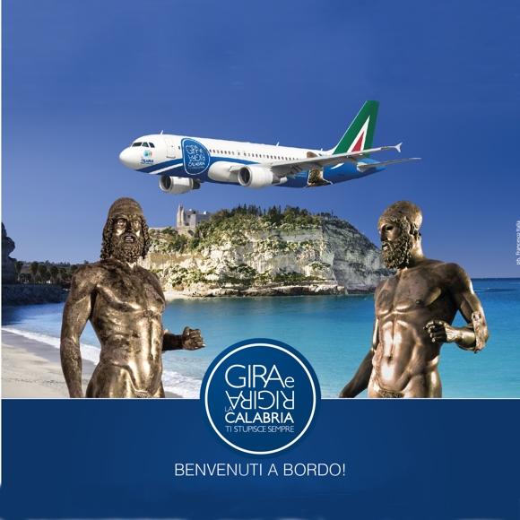 Tropea sulle fusoliere degli aerei Alitalia