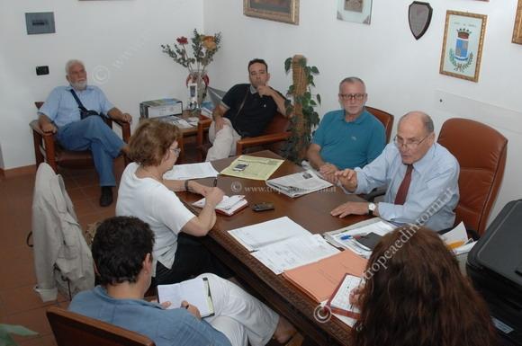I rappresentanti della stampa durante la conferenza - foto Libertino