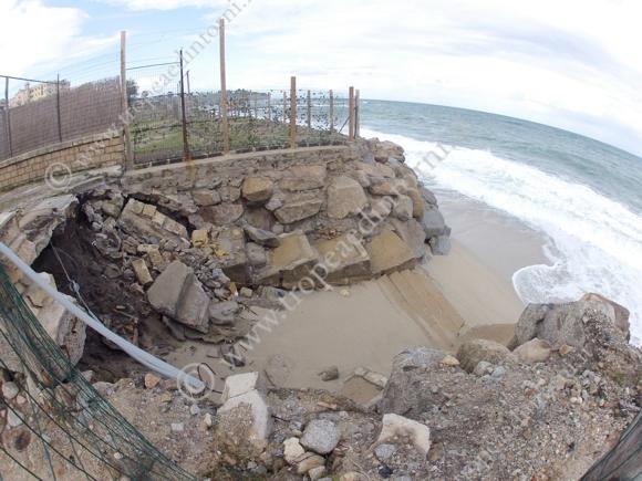 Tropea: danni causati dal maltempo - foto Libertino