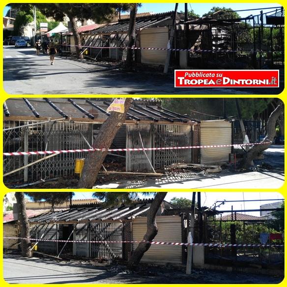 Distrutto un marchet In Via Baeumer Eduard (adiacente al porto di Tropea) - foto Libertino