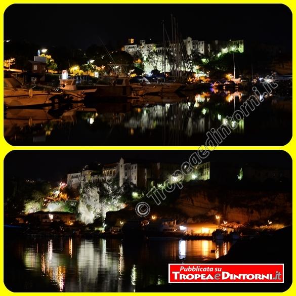 Tropea di notte vista dal porto - foto Libertino