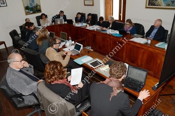 """I responsabili del progetto """"EC2"""" a lavoro - foto Libertino"""