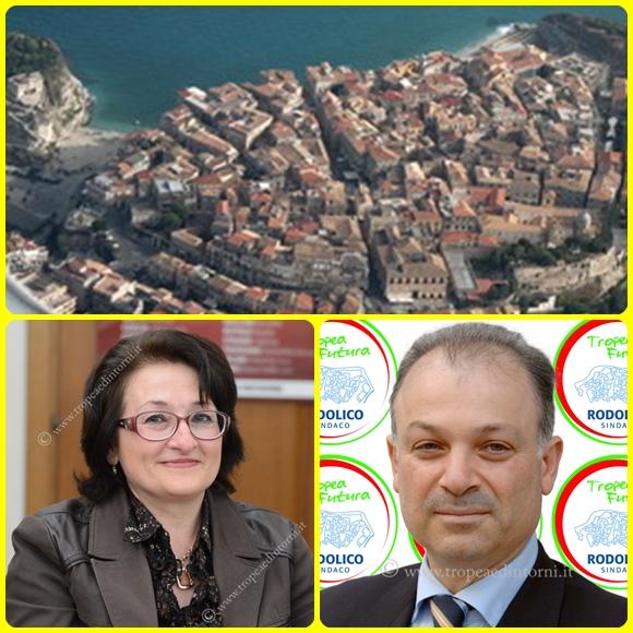 L'Assessore ai Servizi Sociali Dott. Rosalia Rotolo - Giuseppe Rodolico Sindaco di Tropea - foto Libertino