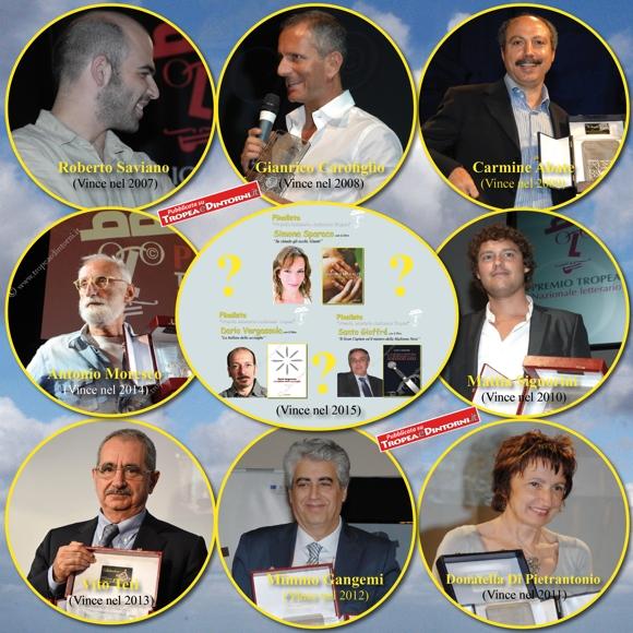 """I vincitori delle prime VIII edizioni del """"Premio Tropea"""" - foto Libertino"""