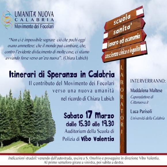 Volantino convegno Focolarini 2012