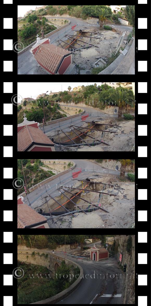 La voragine di Via Carmine, Tropea 18 luglio 2014 - foto Libertino
