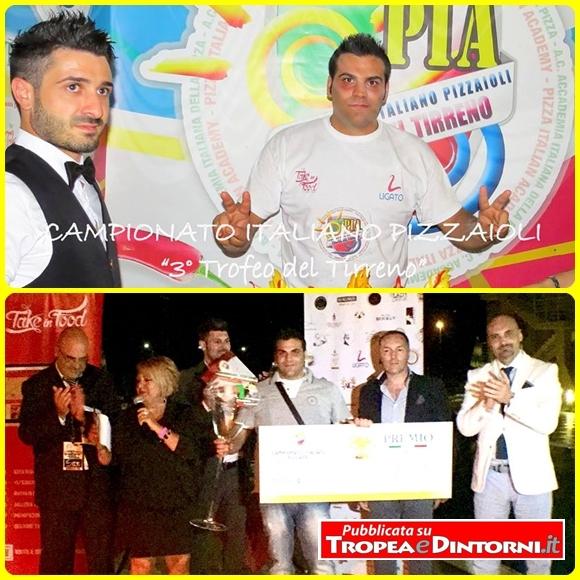 Davide Biancardi, ha ottenuto il primo premio nel Campionato italiano pizzaioli, terzo Trofeo del Tirreno