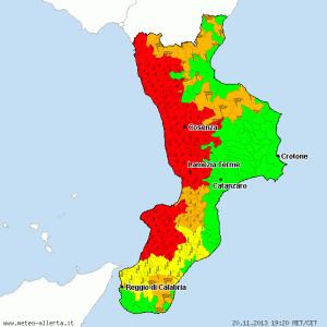 La situazione pubblicata oggi sul sito www.meteo-allerta.it