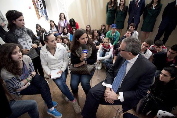 Caligiuri intervistato dagli studenti