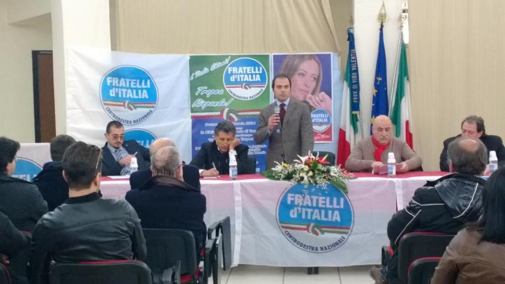 Un momento dell'intervento dell'avvocato Giuseppe Caia