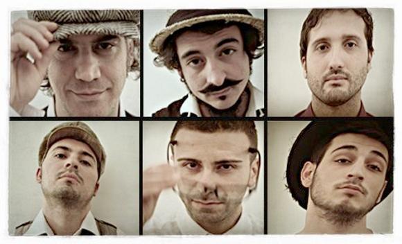 """""""Nuju"""" Fabrizio Cariati (voce, sinth, chitarra), Marco Ambrosi (chitarre), Giuseppe Licciandi (Basso), Roberto Virardi (Fisarmonica e chitarra), Roberto Simina (Percussioni, armonica e organetto), Stefano Stalteri (Batteria)"""