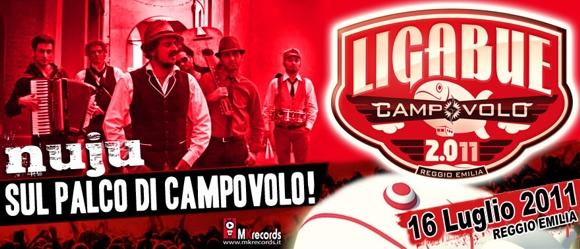 """""""Nuju"""" - Il 16 luglio al concerto di Ligabue"""