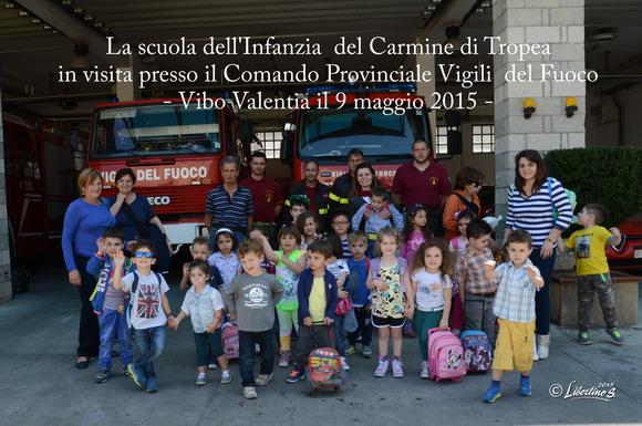 La scuola primaria di Tropea in visita al Comando Provinciale dei Vigili del Fuoco di Vibo - foto Stroe